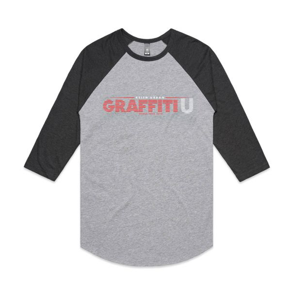 Graffiti U Black Raglan